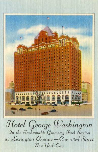 Hotel George Washington on Lexington Avenue and 23rd Street in the Grammercy Park area, New York City, America