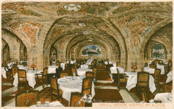 The Grill Room at the Hotel McAlpin, New York City, America