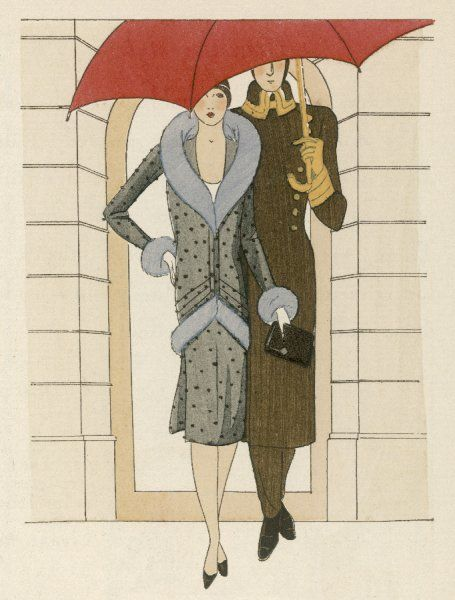 A hotel porter escorts a woman (elegantly clad in a woollen afternoon ensemble by Jean Patou) to her taxi, an onerous task for which he will expect to be handsomely rewarded