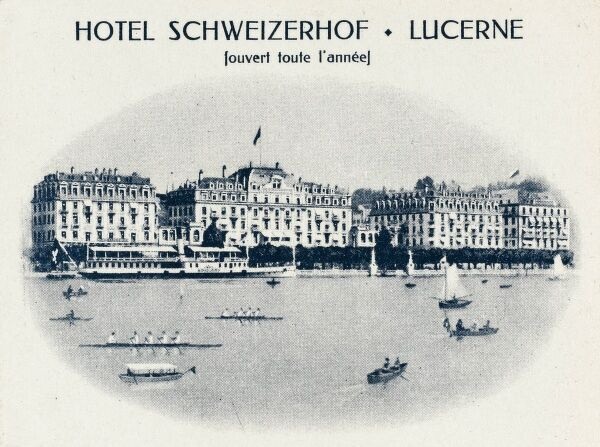 Built in 1845 - possibly the most famous Hotel in Lucerne, Switzerland - The Hotel Schweizerhof
