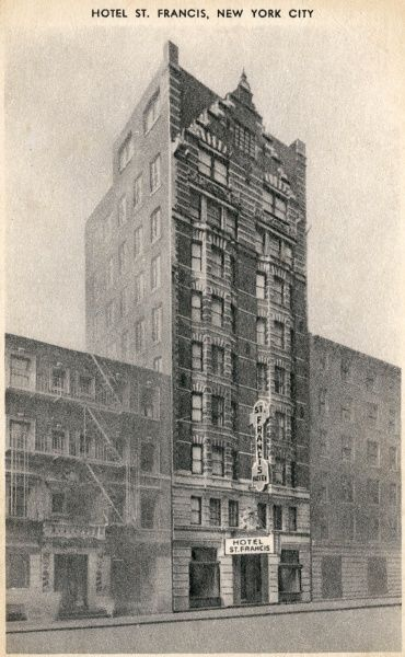 Hotel St. Francis on Broadway and West 47th Street, New York City, America