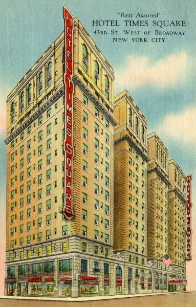 Hotel Times Square on 43rd Street, New York City, America