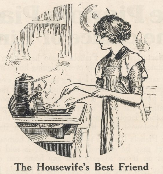 The housewife's best friend is a modern gas cooker equipped with every convenience for cooking food scientifically and daintily