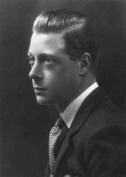 Portrait of the Prince of Wales in 1928, who returned from a sporting trip in East Africa when he received news of King George V's illness. Edward, born in 1894, was George's eldest son. He succeeded his father in 1936, but he abdicated soon after