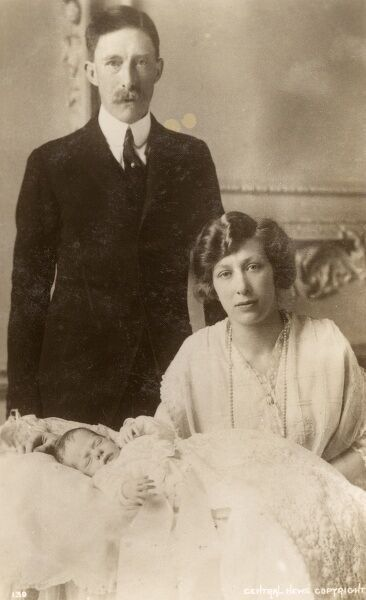 HRH Princess Mary, Princess Royal (1897-1965) Lord Lascelles(1882-1947), 6th Earl of Harewood and their son George Lascelles, (future 7th Earl of Harewood;1923-2011). Date: 1923