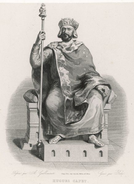 HUGUES CAPET king of the Franks, seated on his throne