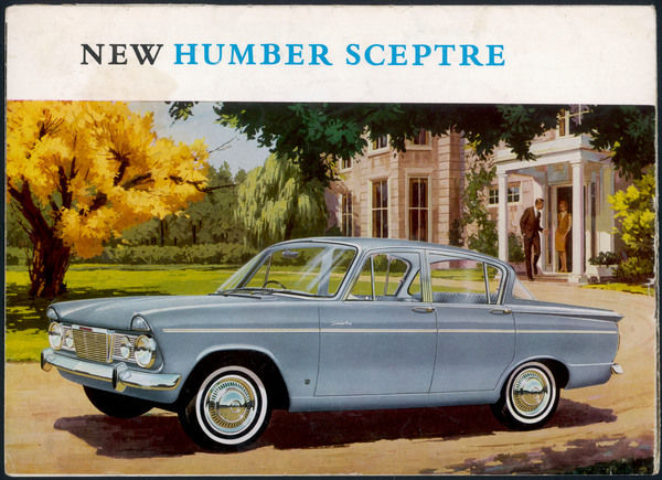 The Humber Spectre is a popular model which will pass through a number of modifications : this is the original Mark One, elegantly posed outside a gracious home