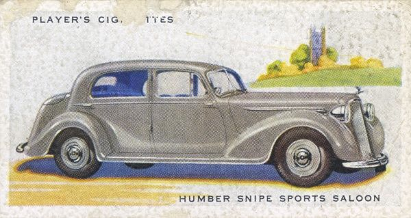 The Humber 'Snipe' is chosen for police use, giving it a reputation as an 'establishment' car, solid but with high performance when required. Date: 1937