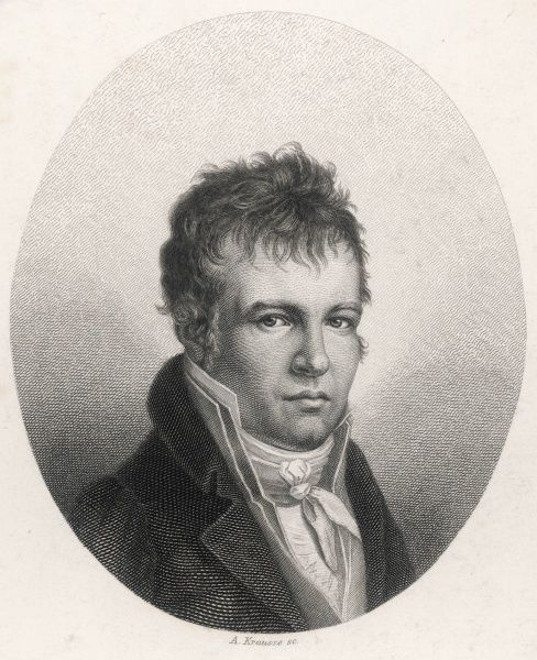 ALEXANDER VON HUMBOLDT German scientist and traveller at age 44 (1814)
