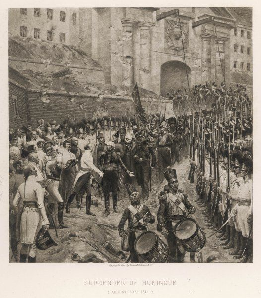 HUNINGUE - The French garrison surrender to the Austrians after a prolonged siege