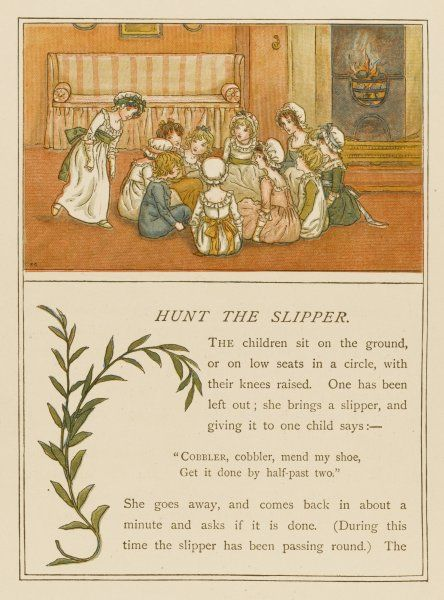 A group of Victorian children playing Hunt the Slipper