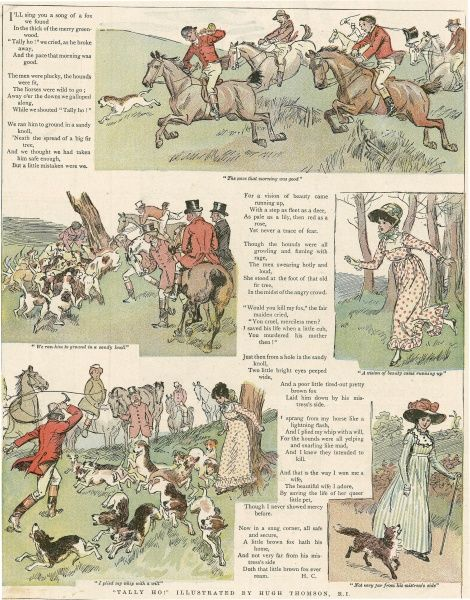 Series of illustrations by Hugh Thomson and text taken from the festive Christmas number of The Graphic in 1904