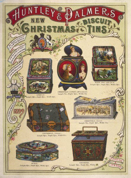 Huntley and Palmer's new Christmas Biscuit Tins