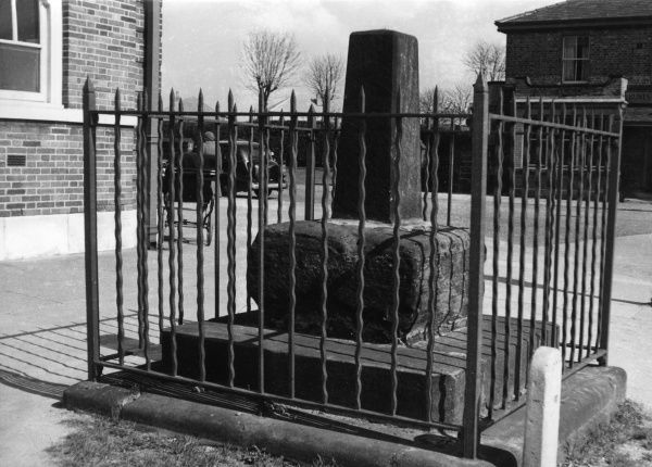The 'Cross' base at Hunts Cross, near Liverpool, Merseyside, England. Date: 1960s
