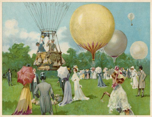 A balloon rally at Hurlingham, on the western outskirts of London, is as much a social event as a sporting occasion