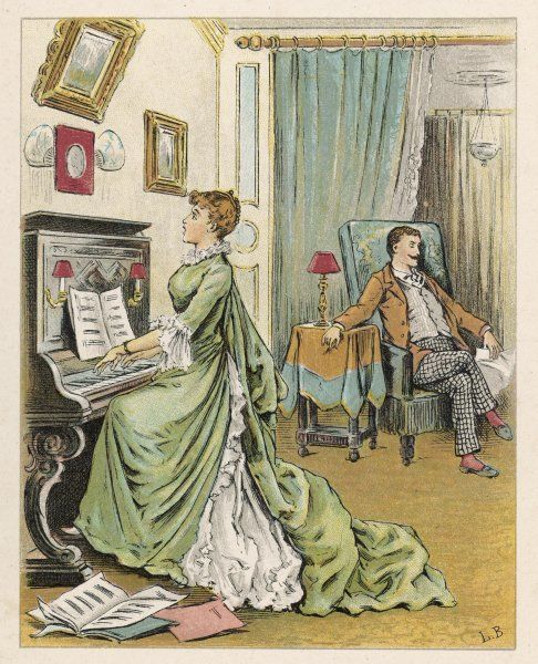 Realisation: the husband ignores the wife's rendition of 'their song&#39
