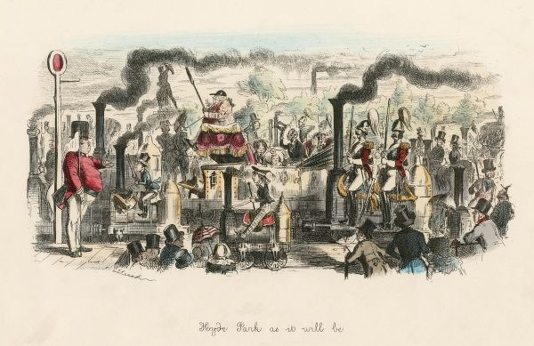 HYDE PARK AS IT WILL BE London's Park is invaded by steam-powered vehicles