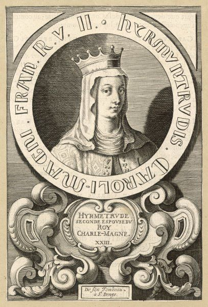 HYRMETRUDE second queen of Charlemagne