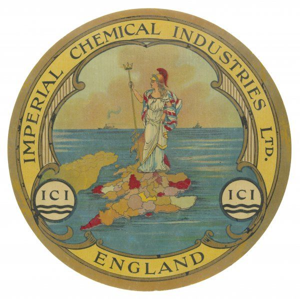 ICI (Imperial Chemical Industries) helps Britannia rule the waves in the great days when the word 'imperial' is one to be proud of !