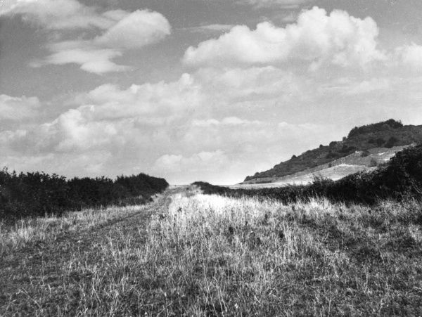 Icknield Street, a Roman Road, said to have run from Derby to Bourton-on-the-Water, where it joined the Foss Way. Seen here at Lewknor, Buckinghamshire, England. Date: 1930s