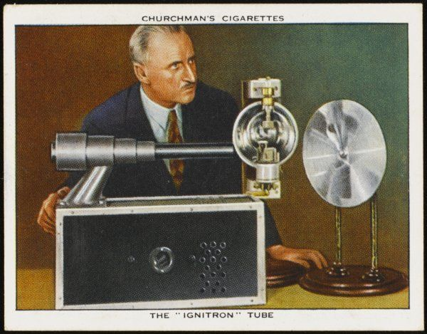 "The Westinghouse ""Ignitron"" tube was designed to register fast-moving objects"