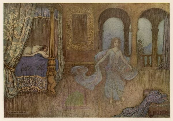 The ghost of a lady haunts a girl's bedroom