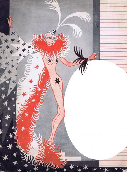 Programme cover for Gaietes de Montmartre, staged at the Prince of Wales Theatre (described as London's Folies Bergere), London, 1939. Art work probably by Louis Curti. Date: 1939
