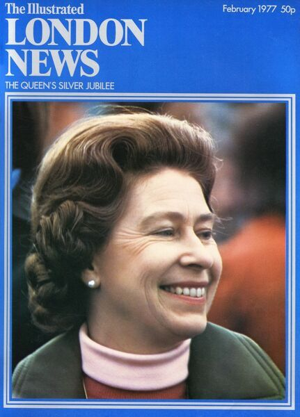 A front cover of The Illustrated London News showing a smiling Queen Elizabeth II in the year of her Silver Jubilee. Date: 01/02/1977