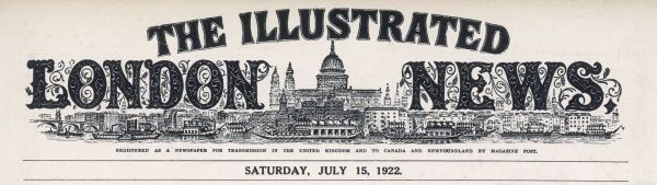 The masthead of The Illustrated London News, which appeared on the first inside page