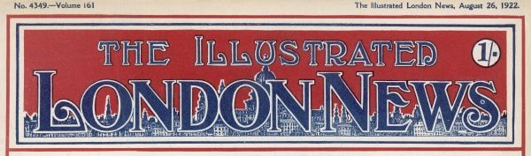 The masthead of The Illustrated London News, which appeared on the front page