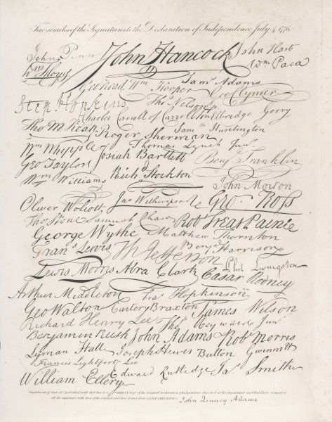 Signatories to the Declaration of Independence