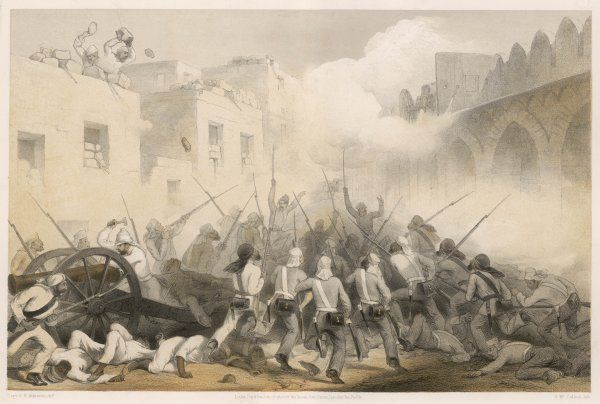 The storming of Delhi by British forces