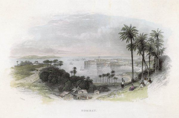 Bombay: general view of the harbour