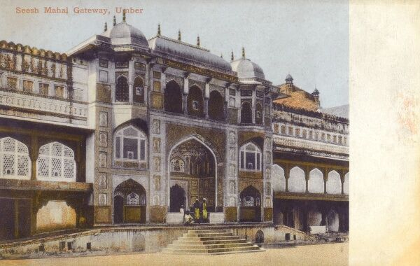 India - Amber Fort at Jaipur - The Palace of Glass Date: circa 1916
