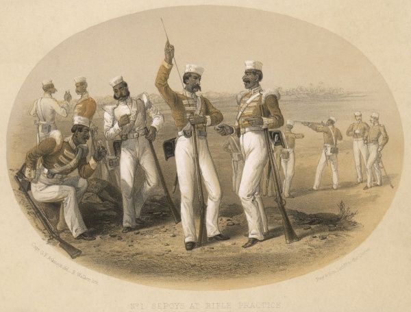 Loyal Indian sepoys at rifle practice