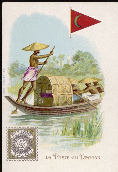 In the Deccan of southern India, the postman may need to be ferried from place to place to make his deliveries