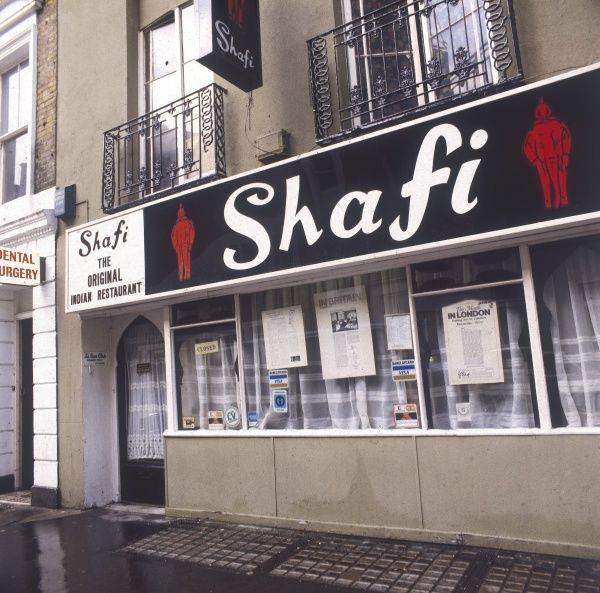 'Shafti', the famous and popular Indian restaurant on Gerard Street, London W1. Date: late 1970s