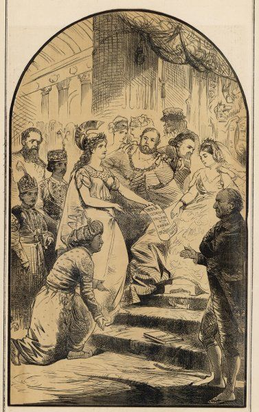 'Be Just and Fear Not' A cartoon on the British injustice to the Nawab of Bengal