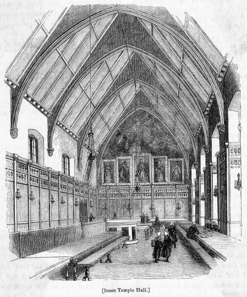 The interior of Inner Temple Hall