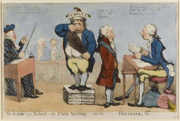 A satire on the return of Fox to Parliament, for a debate on the peace overtures from France, having left in 1797
