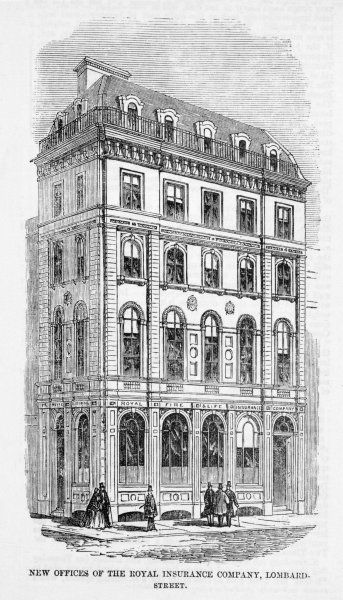The new offices of the Royal Insurance Company, Lombard Street, London