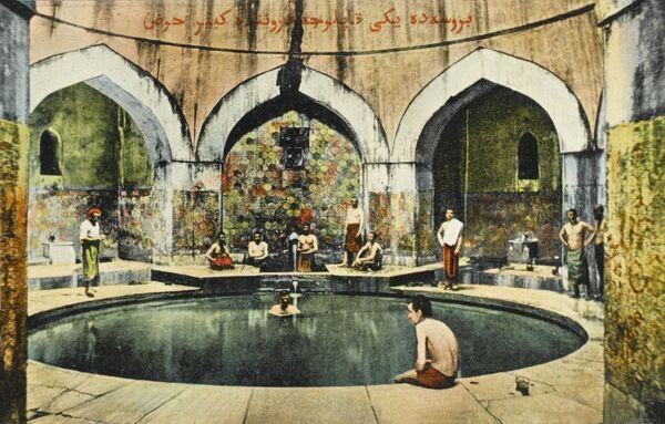 Interior of the Baths at Bursa - Turkey. Fourth largest city and the first Ottoman Capital
