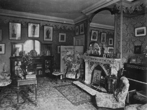 Photograph of the interior of the dining room at Borley Rectory, circa 1890. HPG/1/3/4 (i)