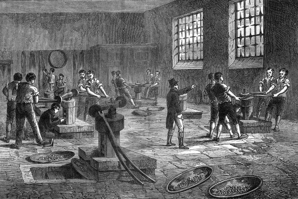 Interior of the Royal Mint, London Date: 1820