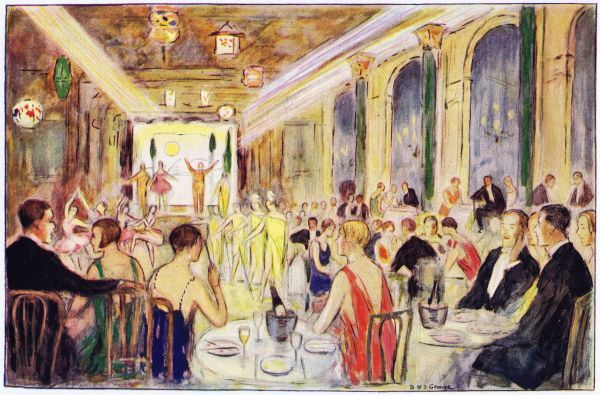 Interior sketch of the Metropole Hotel, London, 1926 - a famous cabaret venue staging The Midnight Follies Date: 1926