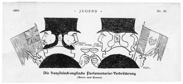 The double faces of the Anglo- French Entente as seen by Germany