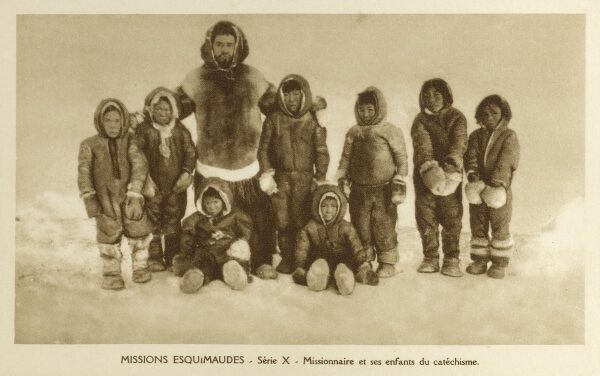Inuit children at a Catholic Eskimo Mission - Newfoundland and Labrador Date: circa 1910s