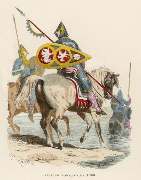 A Norman warrior in the invasion force of William the Conqueror