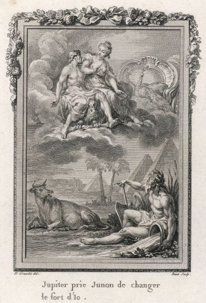 Io was transformed into a heifer when Juno discovered she was having an affair with her husband Zeus ; later Zeus begs for her to be changed back, and Juno relents