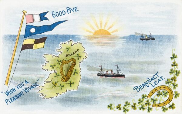 A greeting card from Ireland (interestingly depicted as one country)